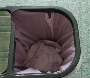 ゴミ箱圧縮実験