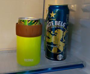 保冷缶ホルダーIN冷蔵庫