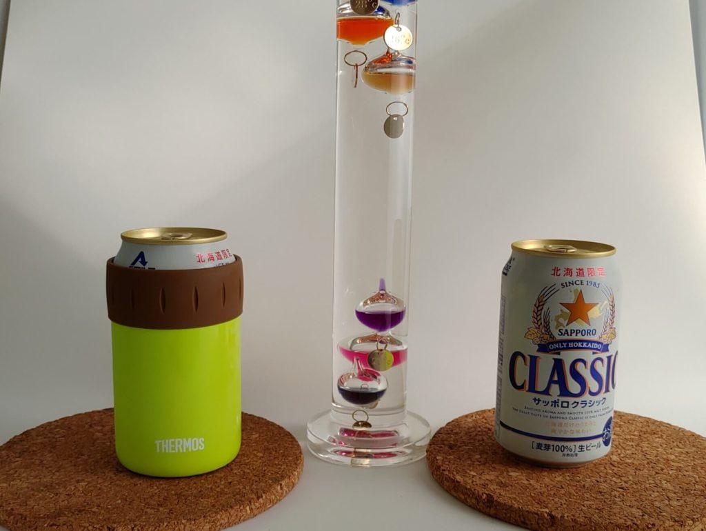保冷缶ホルダー温度実験