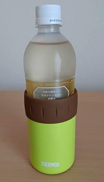 保冷缶ホルダーとペットボトル