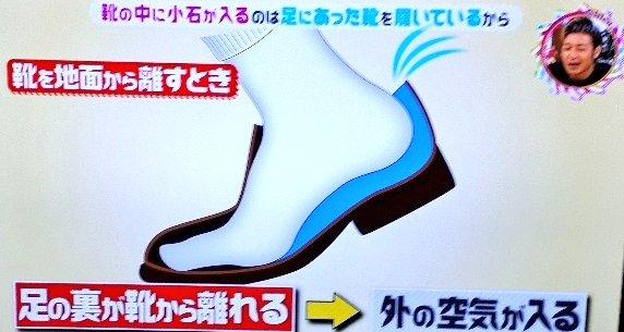 靴に小石が入るメカニズム