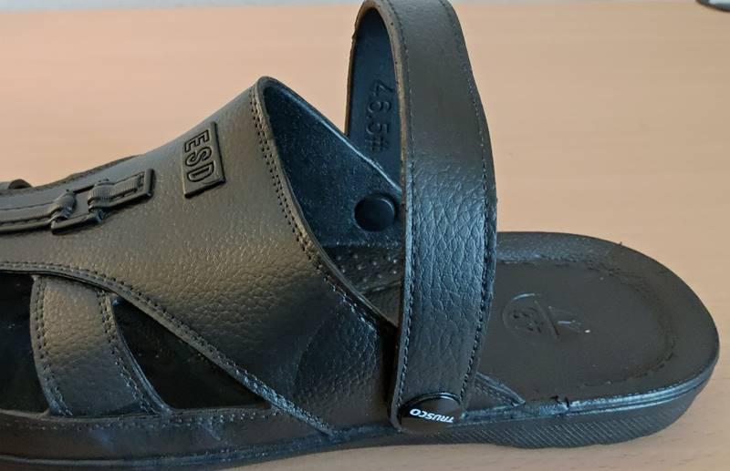静電靴(静電シューズ)クロックスタイプストラップ部分